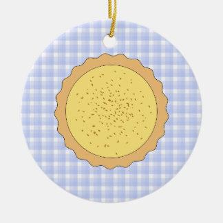 Empanada de la tarta de las natillas adornos de navidad