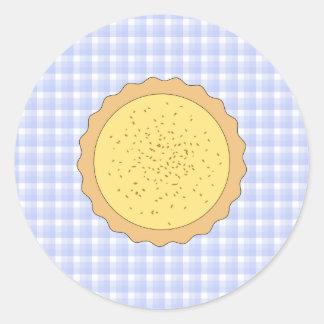 Empanada de la tarta de las natillas pegatina redonda