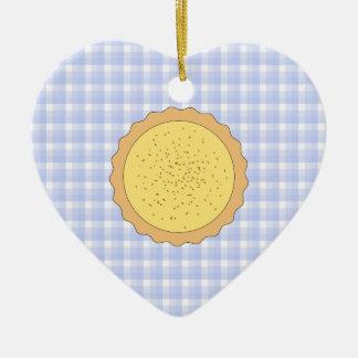 Empanada de las natillas Tarta amarilla con guin Ornamento Para Arbol De Navidad