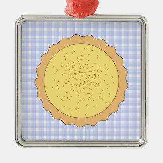 Empanada de las natillas Tarta amarilla con guin Adorno