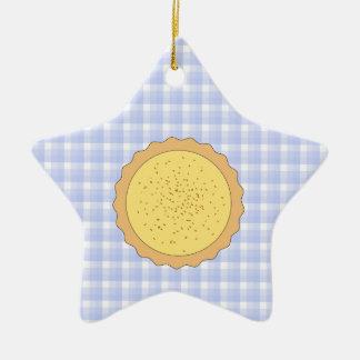 Empanada de las natillas Tarta amarilla con guin Ornamento Para Reyes Magos
