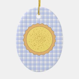 Empanada de las natillas Tarta amarilla con guin Adornos De Navidad