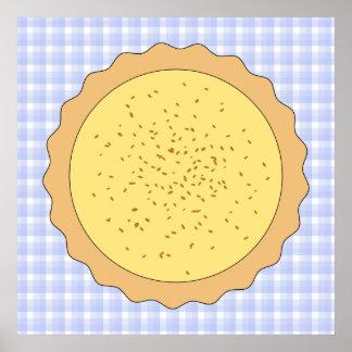 Empanada de las natillas. Tarta amarilla, con guin Impresiones