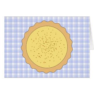 Empanada de las natillas. Tarta amarilla, con guin Tarjeta Pequeña