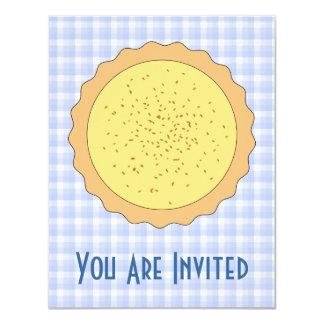 """Empanada de las natillas. Tarta amarilla, con Invitación 4.25"""" X 5.5"""""""