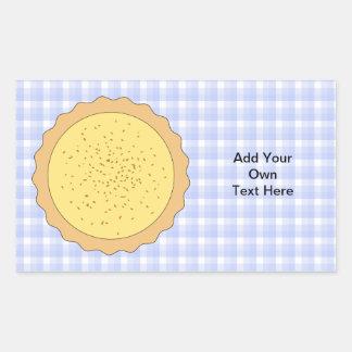 Empanada de las natillas. Tarta amarilla, con Pegatina Rectangular