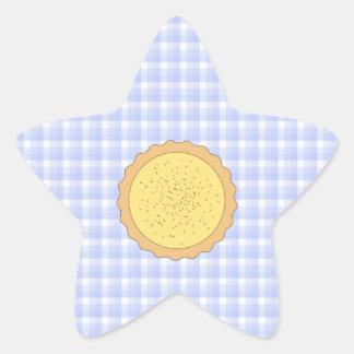 Empanada de las natillas. Tarta amarilla, con Pegatina En Forma De Estrella