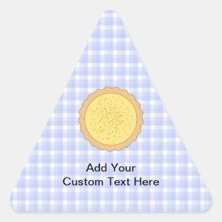 Empanada de las natillas. Tarta amarilla, con Pegatina Triangular