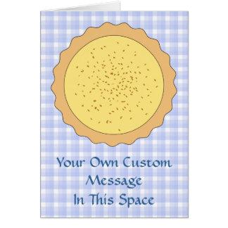 Empanada de las natillas. Tarta amarilla, con Tarjeta De Felicitación