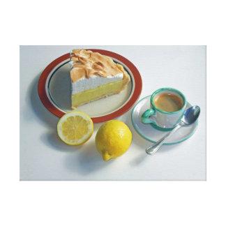 Empanada de merengue de limón impresión en lienzo