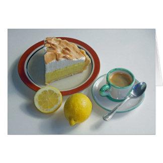 Empanada de merengue de limón tarjeta de felicitación