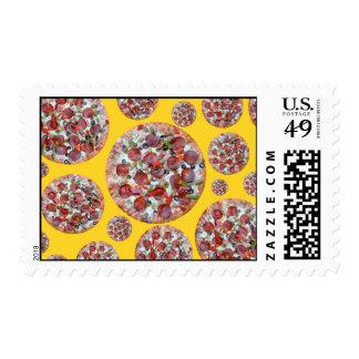 Empanada de pizza amarilla sello