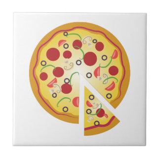 Empanada de pizza azulejo cuadrado pequeño
