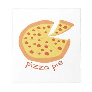 Empanada de pizza blocs de notas