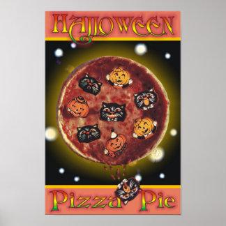 Empanada de pizza de Halloween Póster