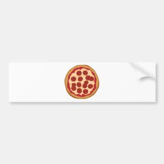 Empanada de pizza de salchichones pegatina para auto