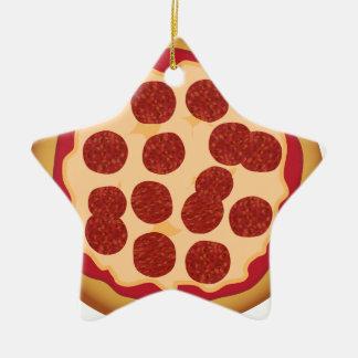 Empanada de pizza de salchichones ornamentos de navidad