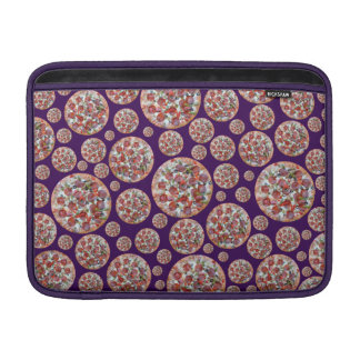Empanada de pizza púrpura funda para macbook air