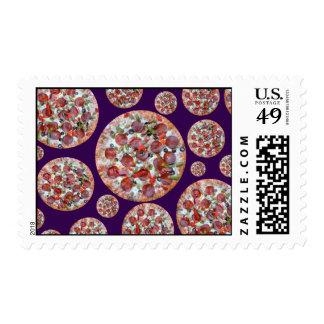 Empanada de pizza púrpura sello