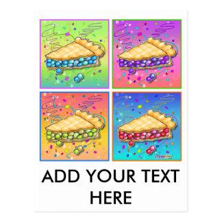 Empanada del arte pop postales