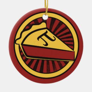 Empanada del día del pi adorno de navidad