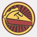Empanada del día del pi etiqueta redonda