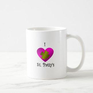 Empanada del santo del corazón I en oro y rosa Tazas