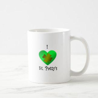 Empanada del santo del corazón I en oro y verde Tazas