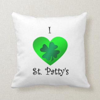 Empanada del santo del corazón I en verde en verde Almohadas