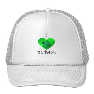 Empanada del santo del corazón I en verde en verde Gorra