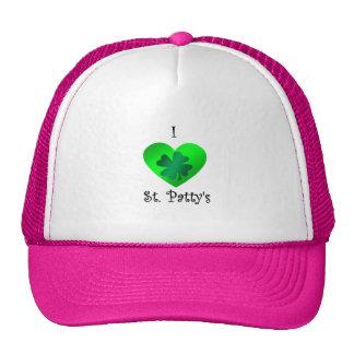 Empanada del santo del corazón I en verde en verde Gorro