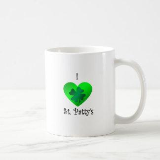 Empanada del santo del corazón I en verde en verde Tazas