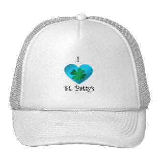 Empanada del santo del corazón I en verde y azul Gorras