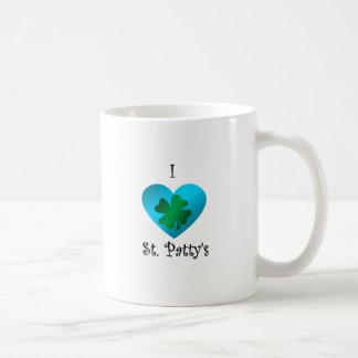 Empanada del santo del corazón I en verde y azul Tazas