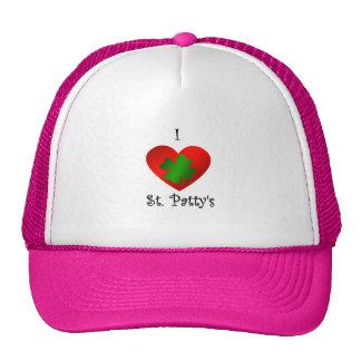 Empanada del santo del corazón I en verde y rojo Gorros