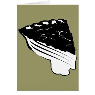 Empanada - rebanada de empanada tarjeta de felicitación