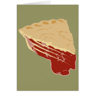 Empanada - rebanada de la cereza/de la fruta de la tarjeta de felicitación