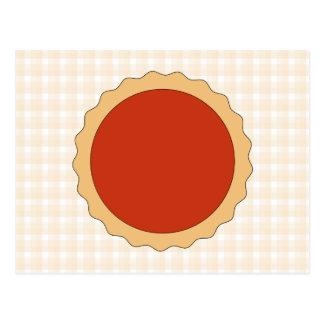 Empanada roja. Tarta de la fresa. Control beige Postal