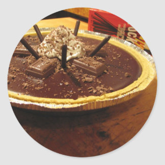 Empanada sifilítica del chocolate pegatina redonda