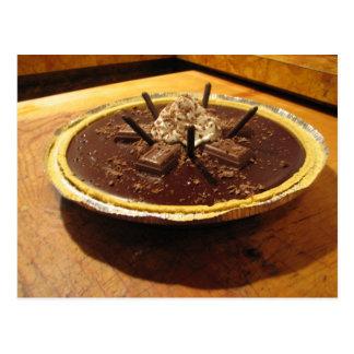 Empanada sifilítica del chocolate tarjetas postales
