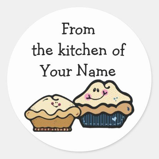 Empanadas del dibujo animado para empanada día el  etiqueta redonda