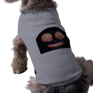 Empanadas y palo de golf felices camisetas mascota