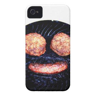 Empanadas y palo de golf felices Case-Mate iPhone 4 coberturas