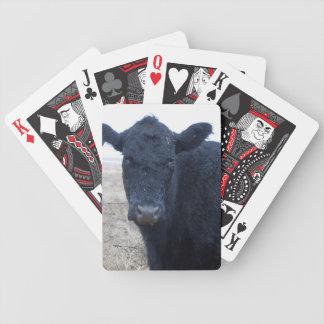 Empapado por la lluvia moje el ganado votado de la baraja cartas de poker