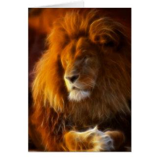 Empapando para arriba el Sun, rey del león de la Tarjeta De Felicitación