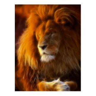 Empapando para arriba el Sun, rey del león de la Postales