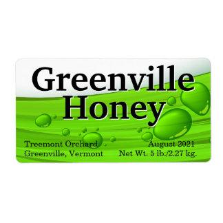 Empaquetado líquido del tarro de la miel etiquetas de envío