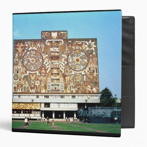 """Emparede el mosaico en la fachada de la biblioteca carpeta 1 1/2"""""""