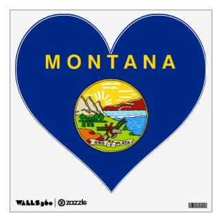 Emparede las etiquetas con la bandera de Montana, Vinilo Adhesivo