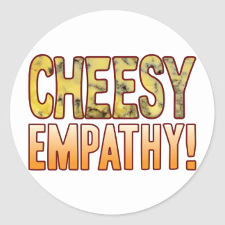 Empathy Blue Cheesy Classic Round Sticker